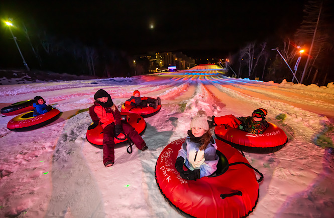 Snowtubing is one of the best things to do in Snowshoe WV!