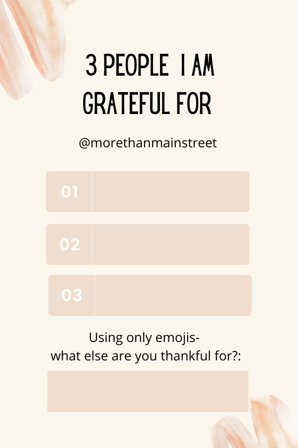 Instagram templates: gratitude challenge.