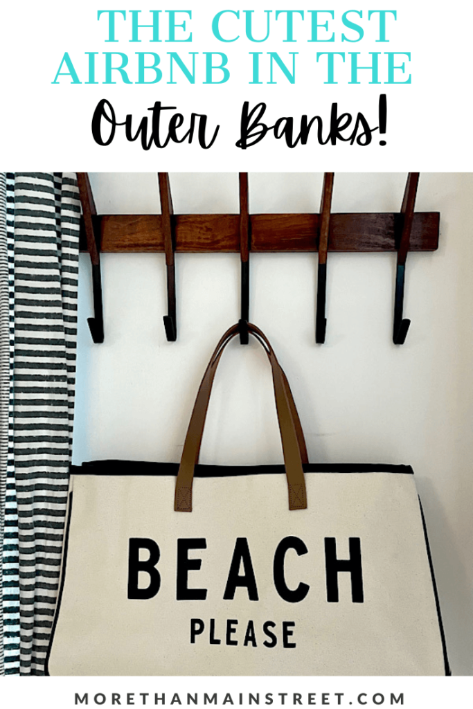 "The cutest Nags Head vacation rental: image of bag that says ""Beach please"""
