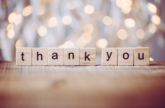 30 Days of Gratitude: Gratitude Journal Prompts, Templates, and More featured by top intentional living blog, More than Main Street. Image of scrabble letters spelling Thank you.