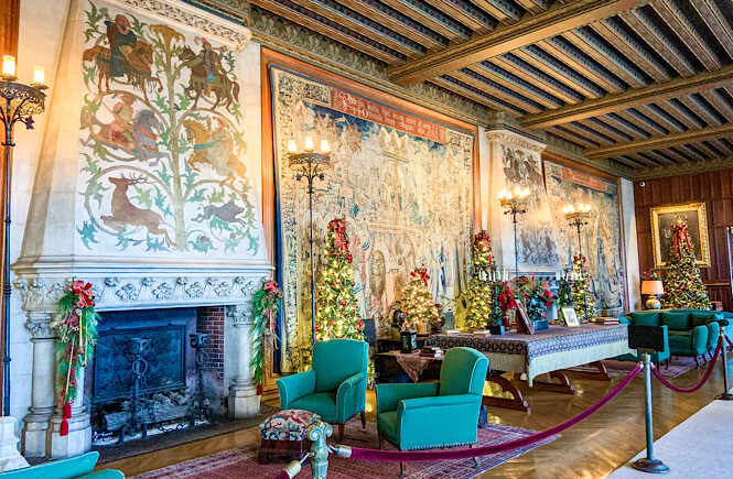 One of the extravagant rooms in the Biltmore house in Asheville, NC.