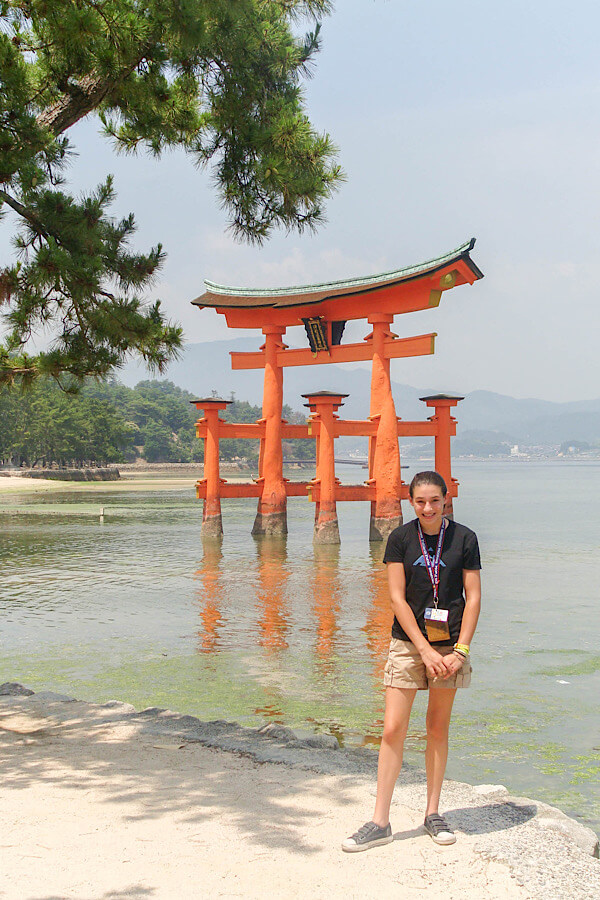 Girl traveling to Japan as a teenager.