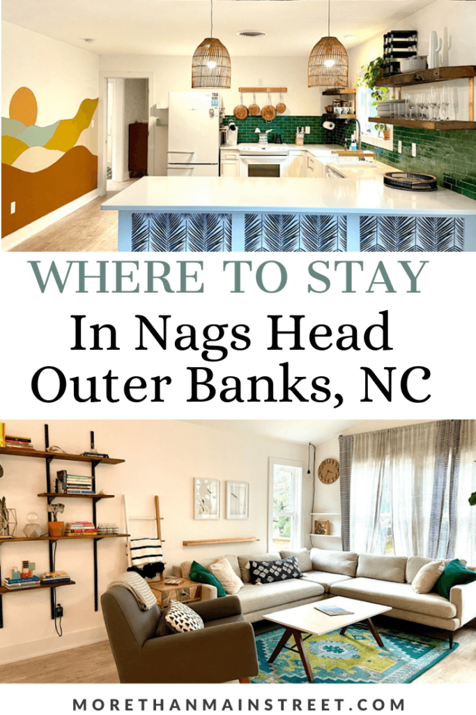 Where to stay in Nags Head: The Saturday House Airbnb!