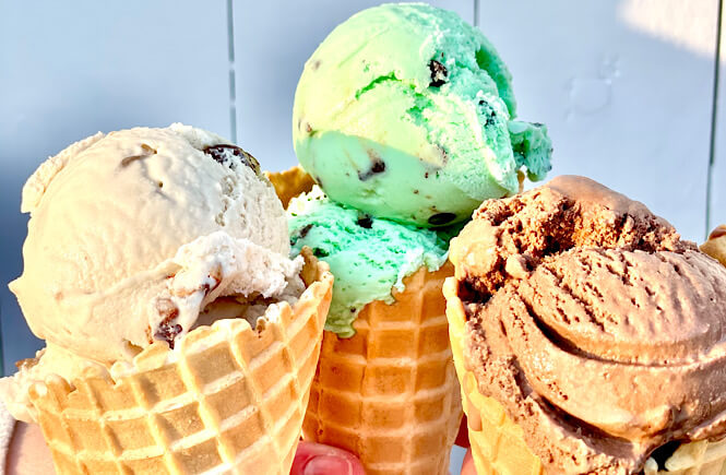 Ice cream cones from Books and Beans featured by top NC travel blog, More than Main Street.