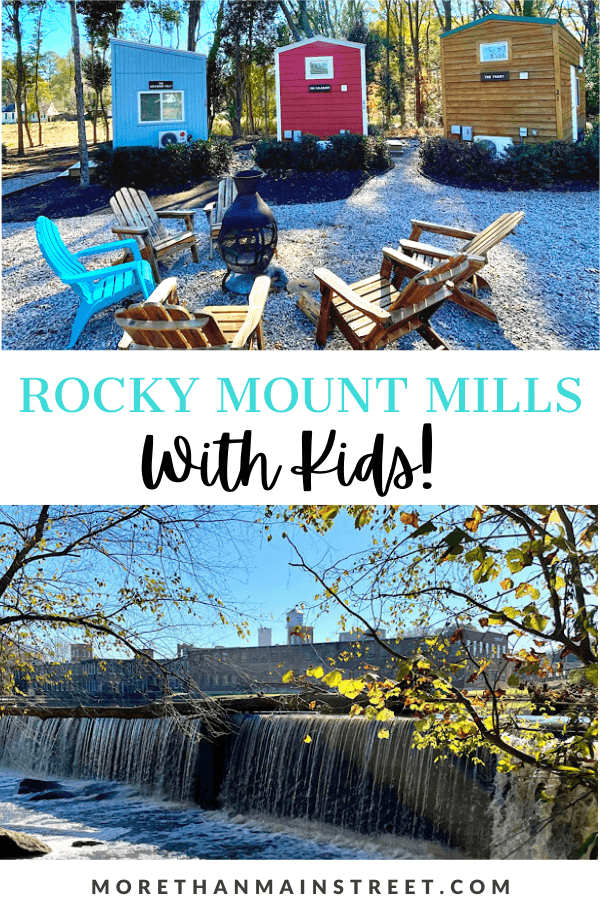 A Locals Guide to Rocky Mount Mills featured by top US family travel blog, More than Main Street.
