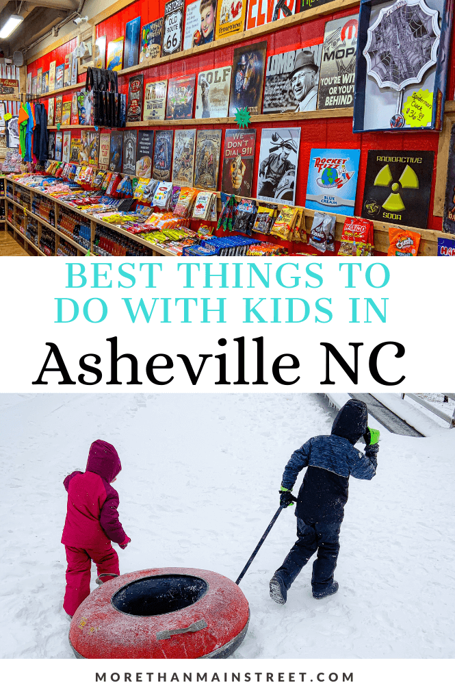 Top 10 best things to do in Asheville NC with kids featured by local NC travel blog, More than Main Street.