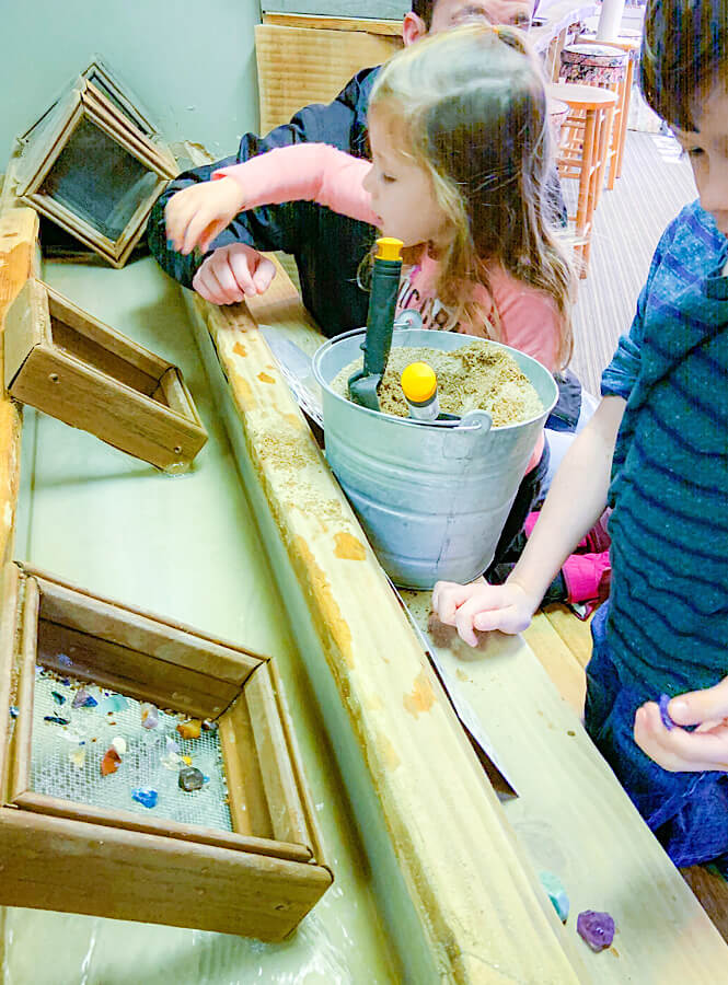 Kids gem mining in Asheville NC one of the most must kids activities in Asheville.