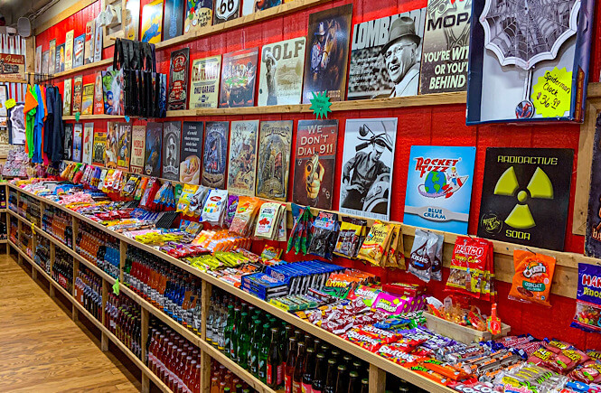 The display at a store called Rocket Fizz in Asheville NC.