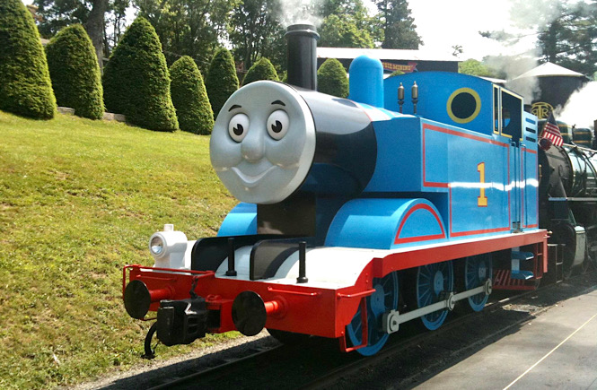 Thomas the Train comes to Tweetsie Railroad in Blowing Rock NC- a perfect day trip from Asheville.