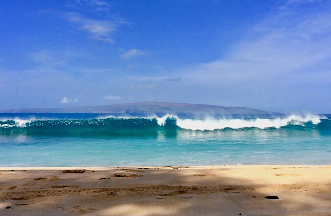 The perfect blue ocean waters of Maui Hawaii.