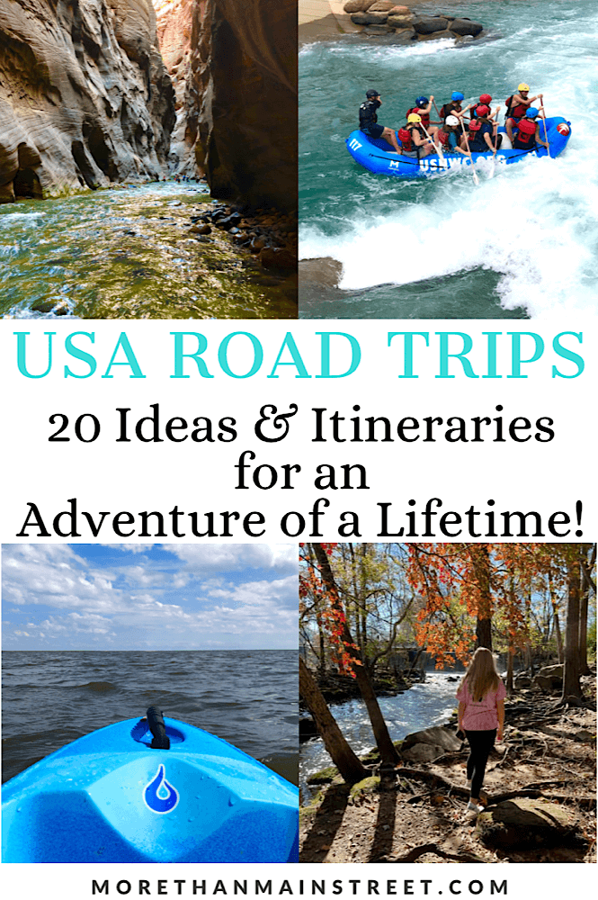 20 Best ideas for adventurous road trips in the USA featured by top US family travel blog, More than Main Street.