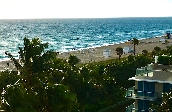 Miami Beach view from the hotel- a must on any Florida road trip featured by top US family travel blog, More than Main Street.