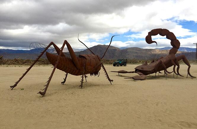 The funky giant bronze statues inBorrego Springs California.