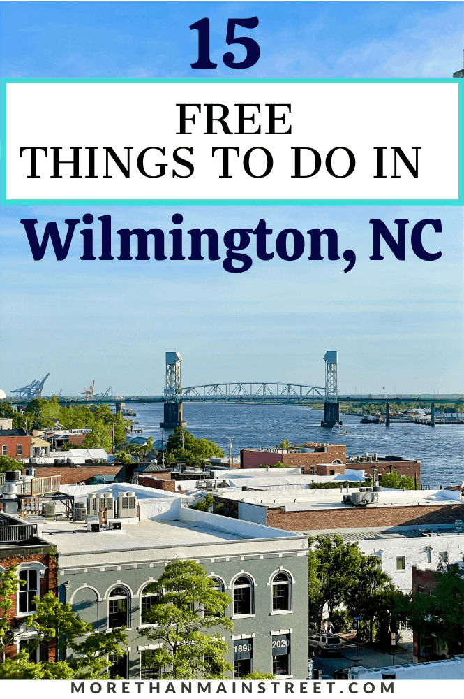 Downtown Wilmington view of the bridge over the Cape Fear River.
