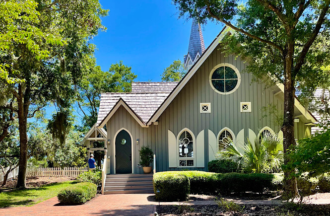 The Village Chapel of Bald Head Island is one of the prettiest spots on the island.