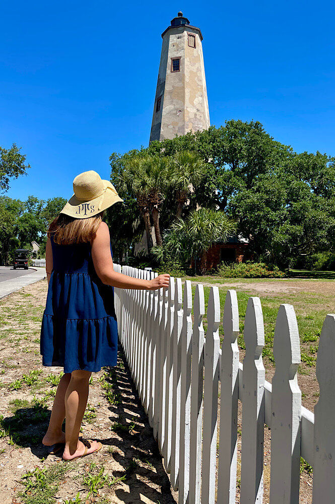 Checking out the Bald Head Island Lighthouse.