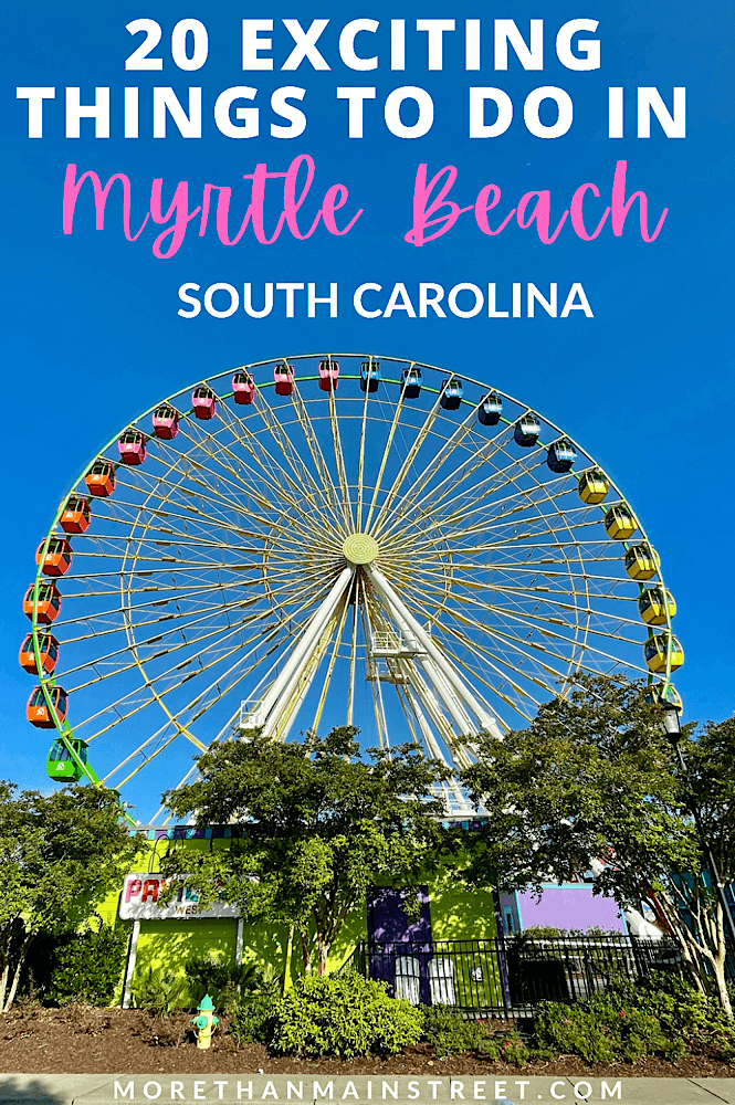 Broadway at the Beach is a fun winter activity in Myrtle Beach South Carolina