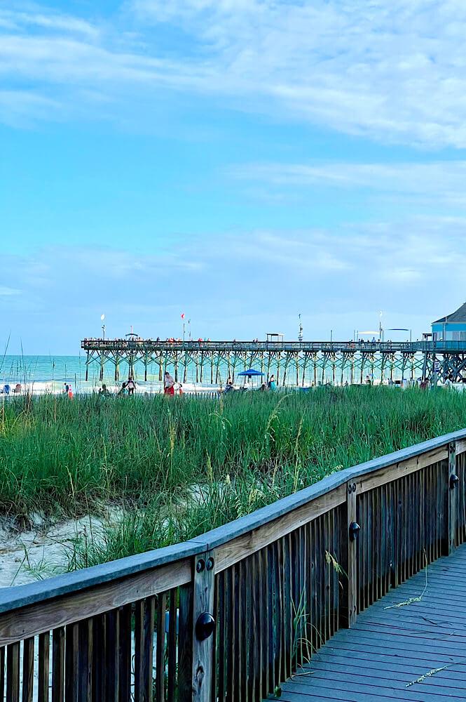 The pier on the Boardwalk in Myrtle Beach is fun year round!