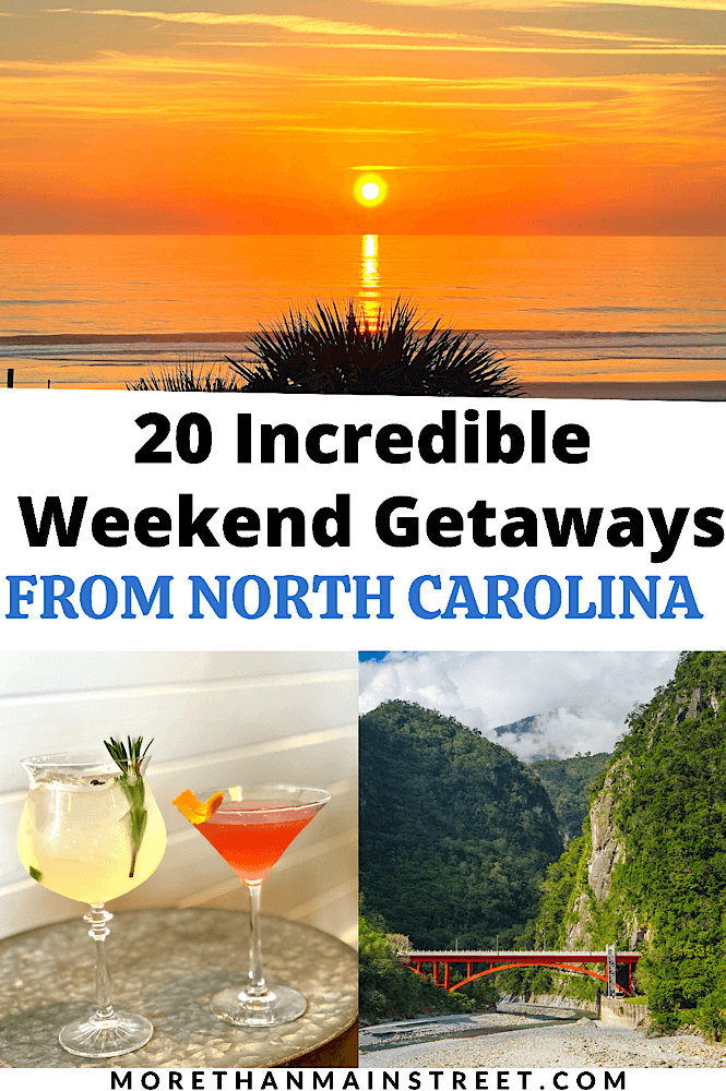 20 Incredible weekend trips from Raleigh featured by top NC travel blog, More than Main Street.