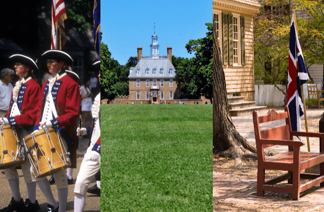Williamsburg is one of the best weekend trips from Raleigh NC- scenes from Williamsburg VA.